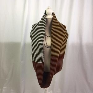 Charlie Paige Striped Colorblock Infinity Scarf